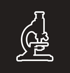 Stylish black and white icon medical microscope vector