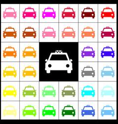 taxi sign felt-pen 33 vector image