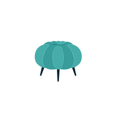 Teal green ottoman footstool isolated on white vector