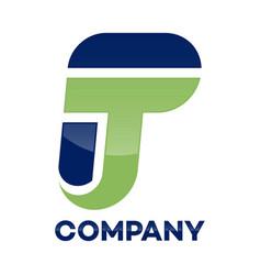 tp letter logo vector image