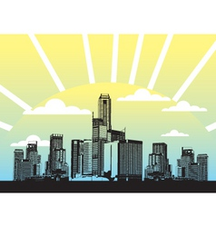 Urban city illustration vector