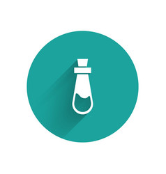 White bottle with potion icon isolated with long vector