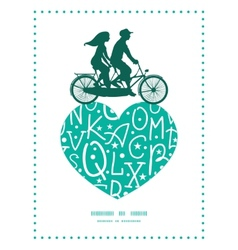white on green alphabet letters couple on tandem vector image