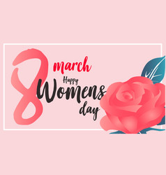 women day banner vector image