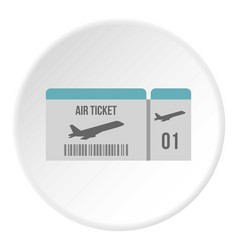 air ticket icon circle vector image