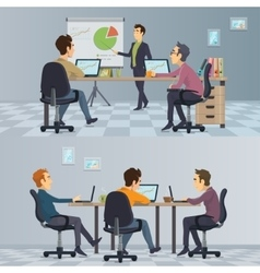 Business Teamwork Composition vector image vector image