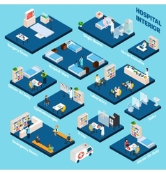Isometric Hospital Interior vector image