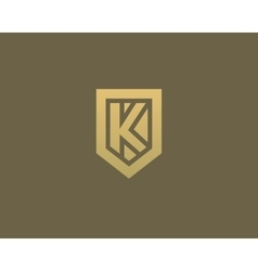 Abstract letter K shield logo design template vector image vector image