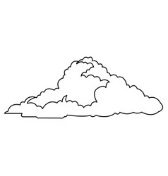 cloud climate weather cold outline vector image