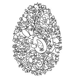 easter egg shape vector image