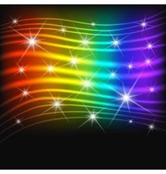Fantasy abstract rainbow background vector