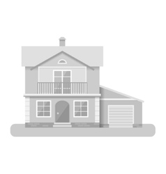 flat house icon isolated on vector image