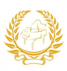 piano symbol vector image vector image
