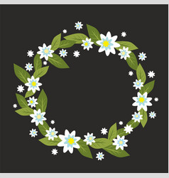 wreath with white flowers vector image