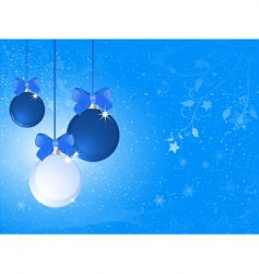 blue and white Christmas baubles vector image vector image