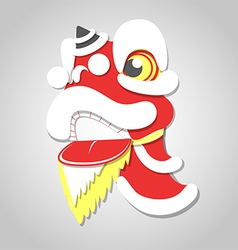 Chinese lion new year celebration vector image