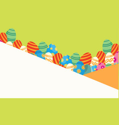 easter greeting card style vector image vector image