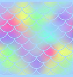 fantastic fish skin seamless pattern vector image vector image