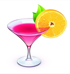pink cocktail vector image