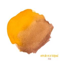Yellow and brown watercolor circle vector