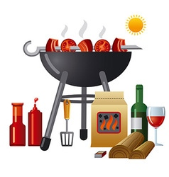 barbecue equipment vector image
