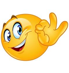 ok sign emoticon vector image