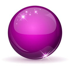 Pink glossy sphere vector image vector image