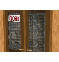 shop closed vector image vector image