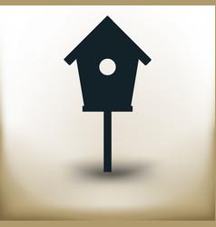 simple bird house vector image