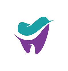 tooth dental logo vector image