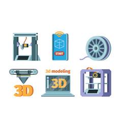 3d printing icon dimensional printer prototypes vector