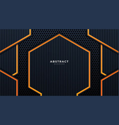 abstract 3d black technology background overlap vector image