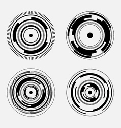 Abstract technology signs - futuristic circles vector image