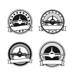 Air travel badges vector image