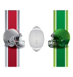 American Football National Championship Matchup vector image