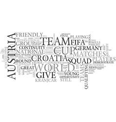 austria vs croatia text word cloud concept vector image
