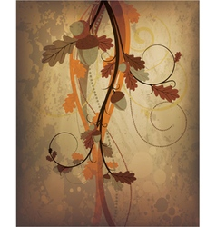 autumn grunge background vector image