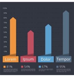 Bar Chart vector image