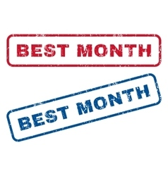 Best Month Rubber Stamps vector image