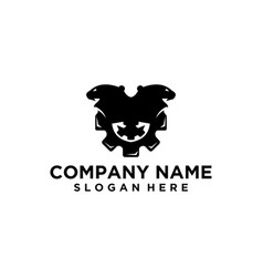 Black and white gear logo vector