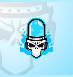 bonelabs skull esports mascot logo vector image