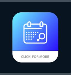 Calendar symbol plan mobile app button android vector