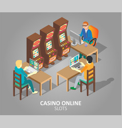 casino online slots isometric vector image
