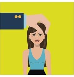 Choose find woman work vector