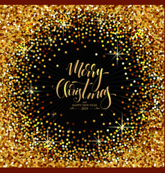 christmas decorative background made of golden vector image