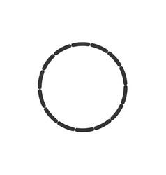 Circle shape icon flat vector