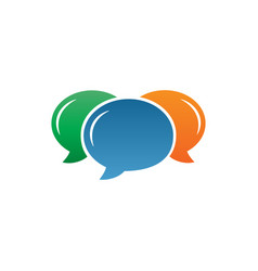 colorful bubble chat icon template vector image