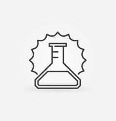 Conical flask outline concept minimal icon vector
