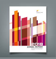 cover annual report abstract geometric colorful vector image