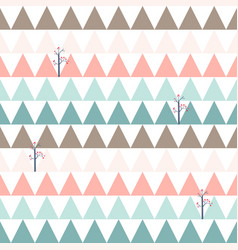 Cute sweet pink and blue triangle seamless pattern vector